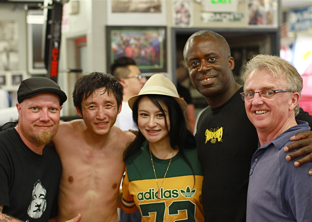 Left to Right: Michael Love, Zou Shiming, Ren Yingying, Ernest Jackson, Barry Donlevy