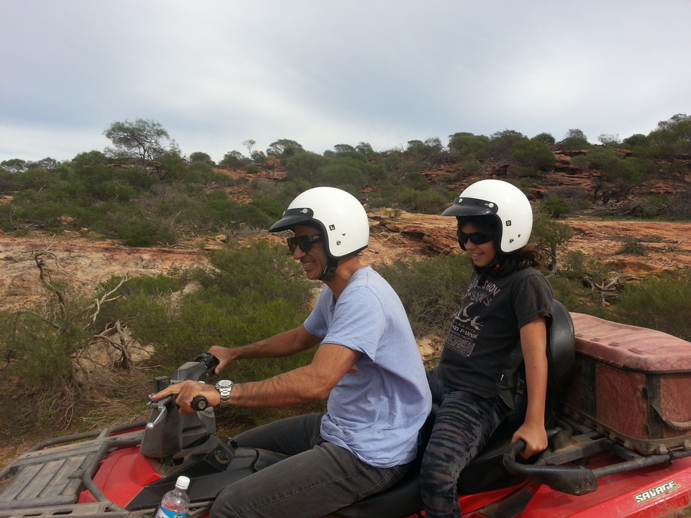 Passengers on Kalbarri Quadbike Safaris