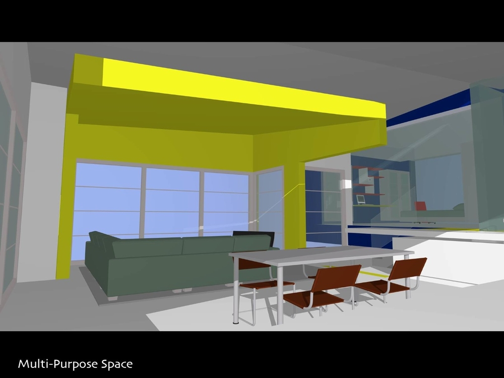 G todd yeomans architect for Multi purpose living room ideas