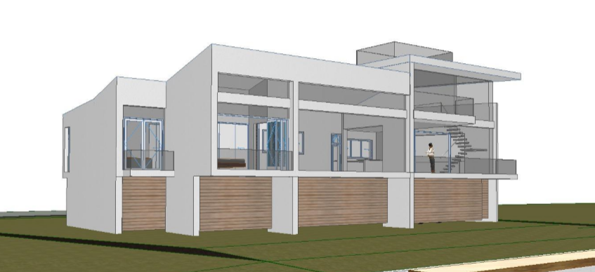"Schematic design for a new house on Whitaker Bayou. Follow the link to more recent work  ""On The Boards"" ."