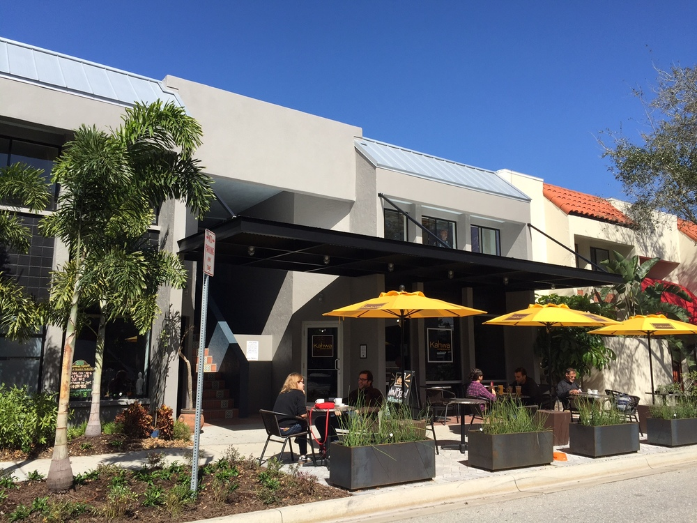 Our offices are located directly above the  Kahwa Coffee  shop at  1487 2nd Street, Suite E, Sarasota, Florida . The renovation of the space for Kahwa Coffee is one of our recently completed projects.