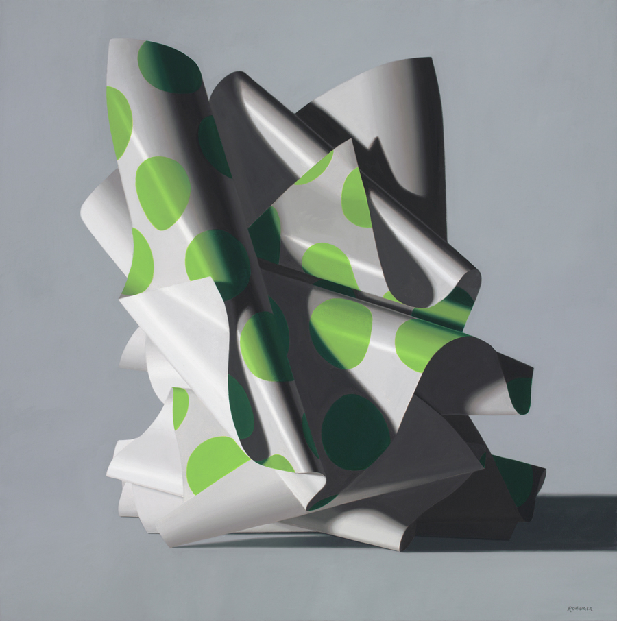 Sinuous, 24 x 24 inches, Oil on Linen