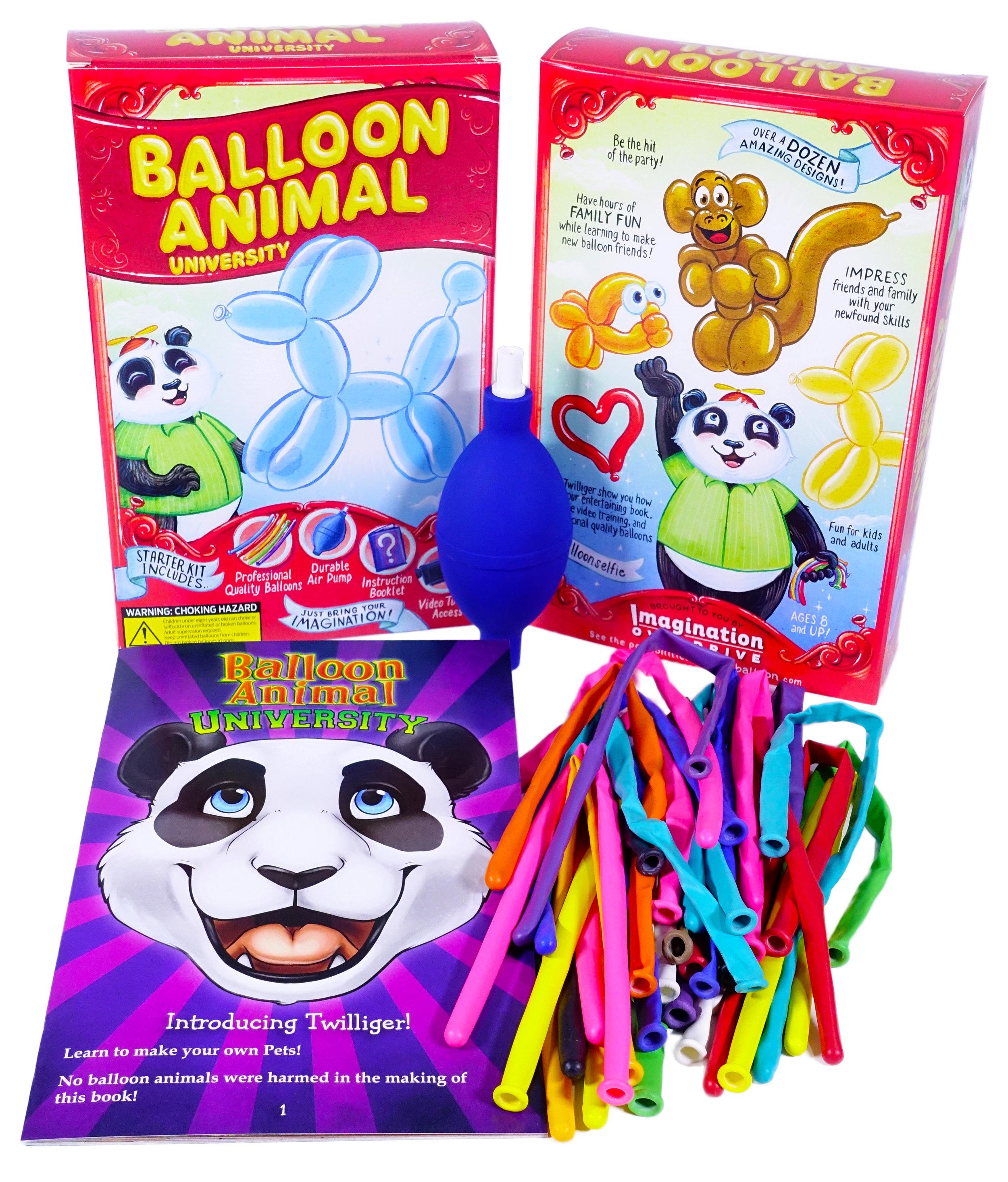 balloon animal university kit 25 balloons custom colors with