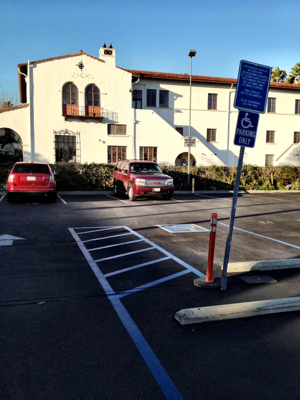 The ticket expired one hour ago for our car in this parking lot. But it was alright; we spent an hour in Vroman's Bookstore in Pasadena. I first went to Vroman's 44 years ago when I started teaching in Pasadena.