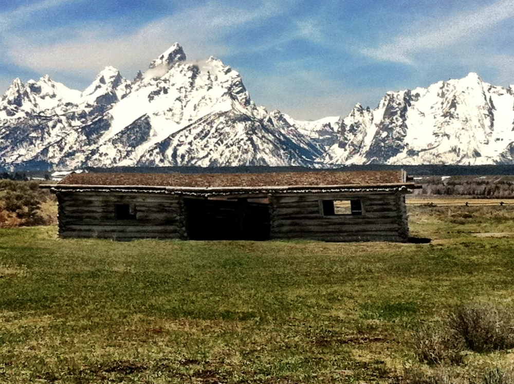 Teton Peak in all it's glory. The Cunningham homestead is in the foreground.