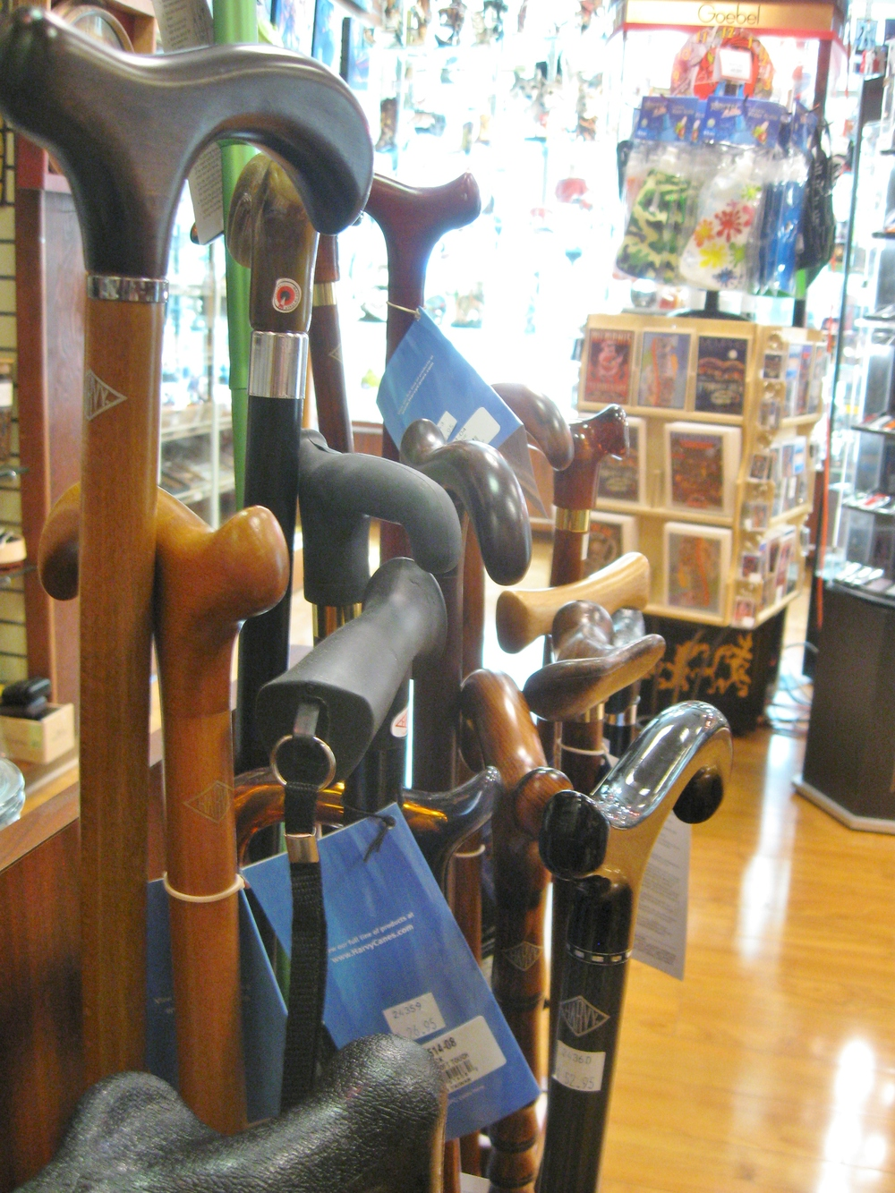 Back in stock! We are carrying a selection of gorgeous walking sticks from the Harvey company again!