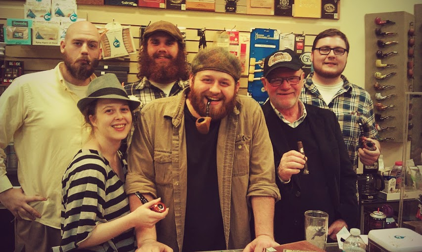 Here's the crew at an Erik Nording pipe & cigar event.