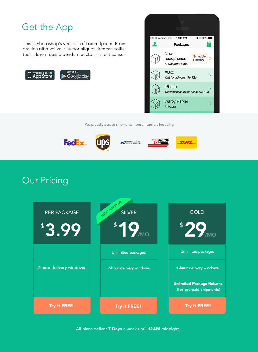 Updated the pricing page for Doorman