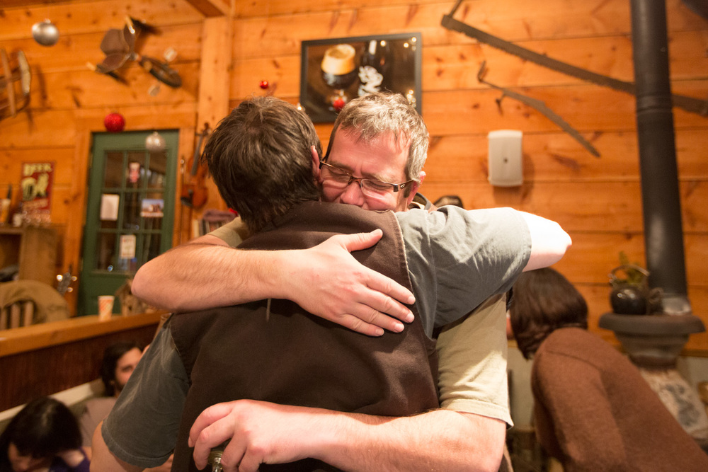 Legendary Dean hug.