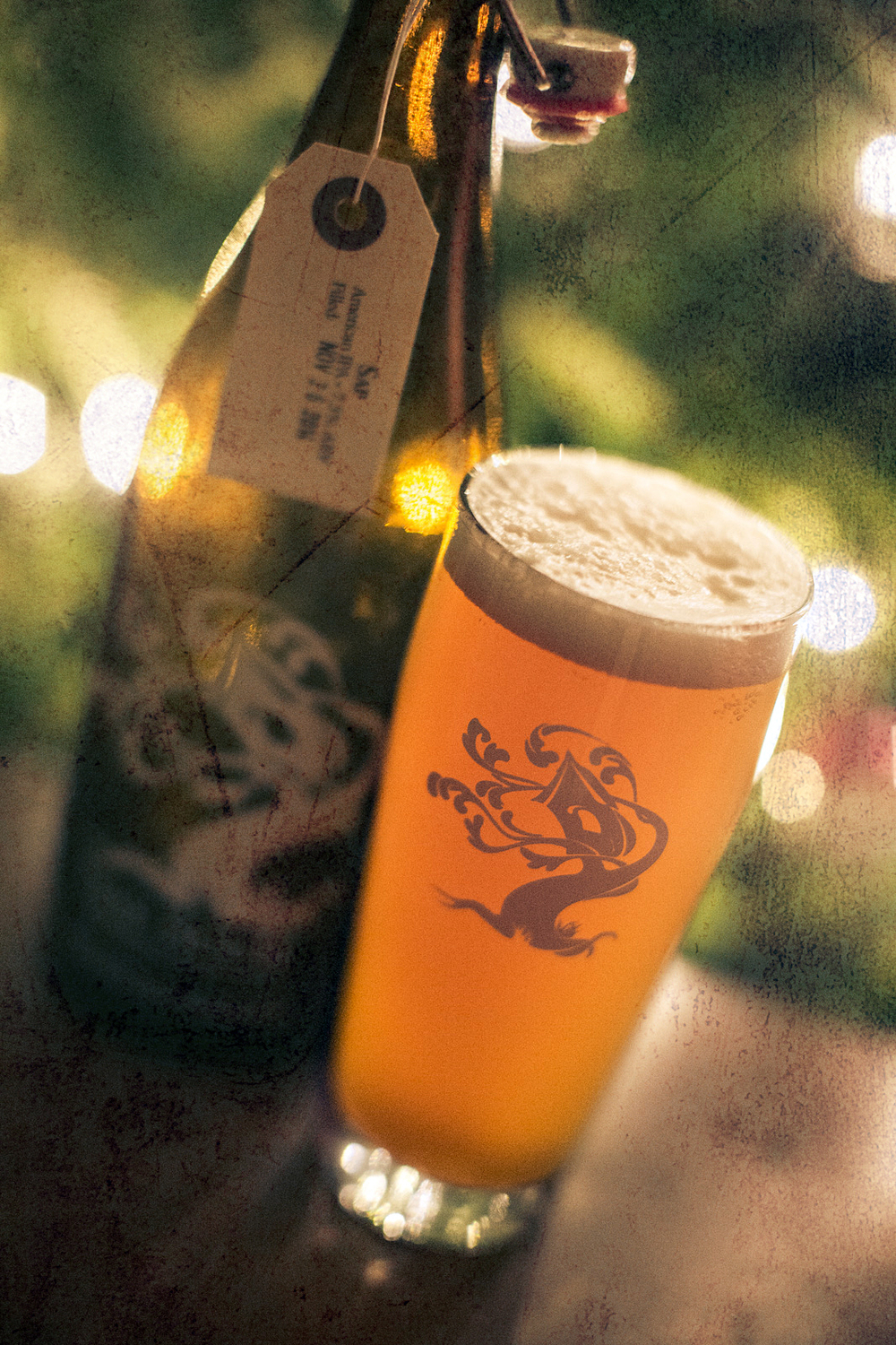 Our 750 ML refillable bottle and Sap - a Tree House IPA.