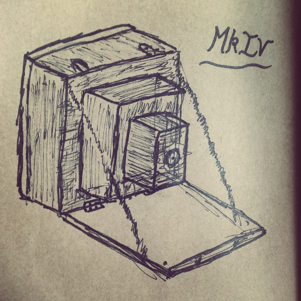 The first concept sketch of the Mk.IV