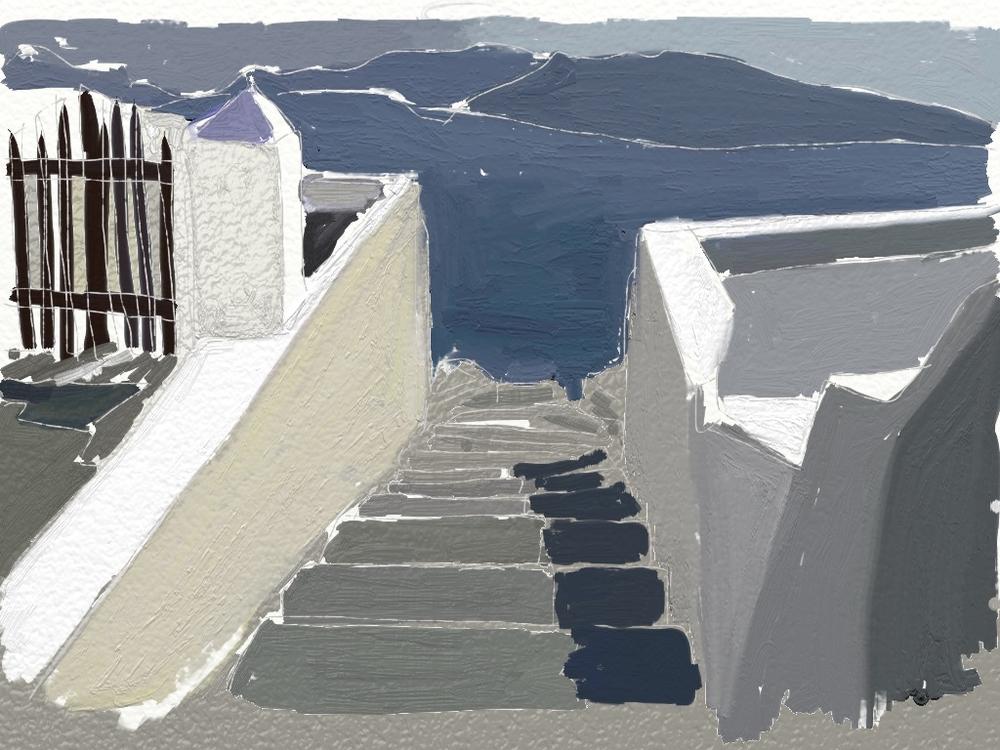 Santorini Blue II