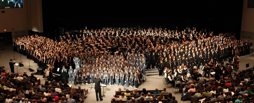The K-12 Jenison Music Department performing at the 2011 Collage Concert