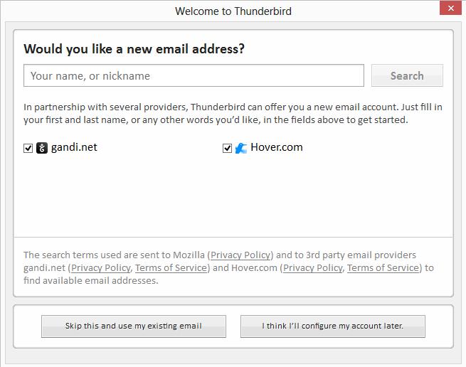"""Så kommer det litt reklame. Trykk på knappen nede til venstre """"Skip this and use my existing email"""""""