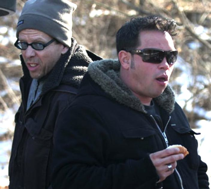 Robert Hoffman hot-dogging with BFF Jon Gosselin in late 2009. Many think that Jon is the source of the confidential documents that Hoffman based his anti-Kate book on.