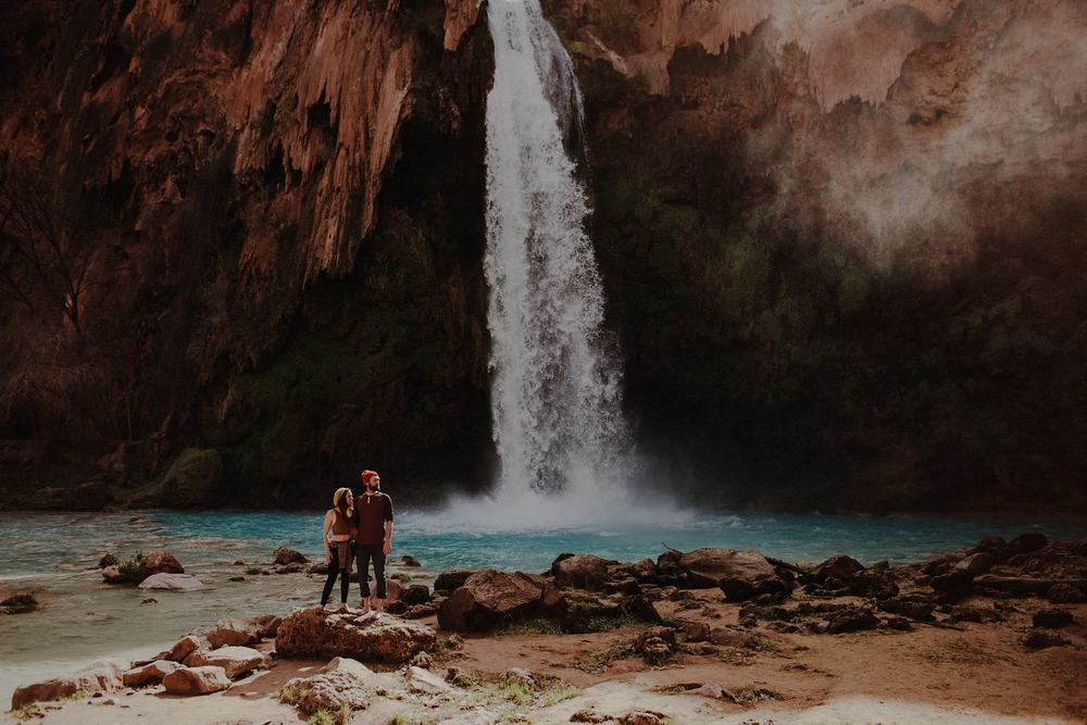 havasu falls arizona engagement