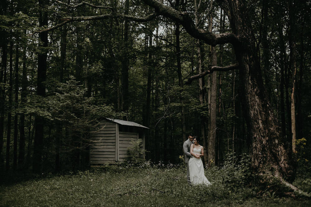 ohio woods wedding