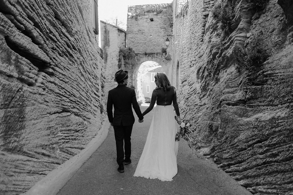 goult provence france elopement vow renewal couple walking photo