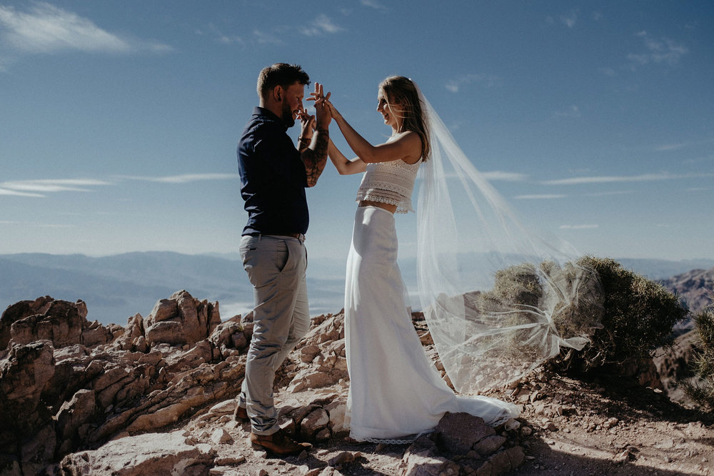 death valley adventure elopement wedding photographer national park ceremony