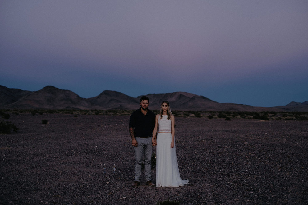 death valley adventure elopement wedding photographer national park couple sunset portrait