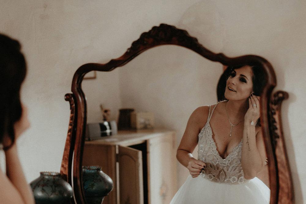 andover new jersey crossed keys estate adventure wedding photographer bride putting on earrings