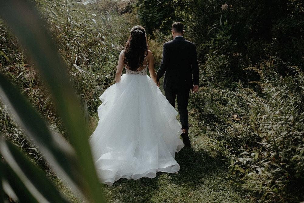 andover new jersey crossed keys estate adventure wedding photographer bride groom walking portrait