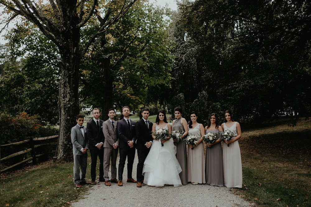 andover new jersey crossed keys estate adventure wedding photographer wedding party