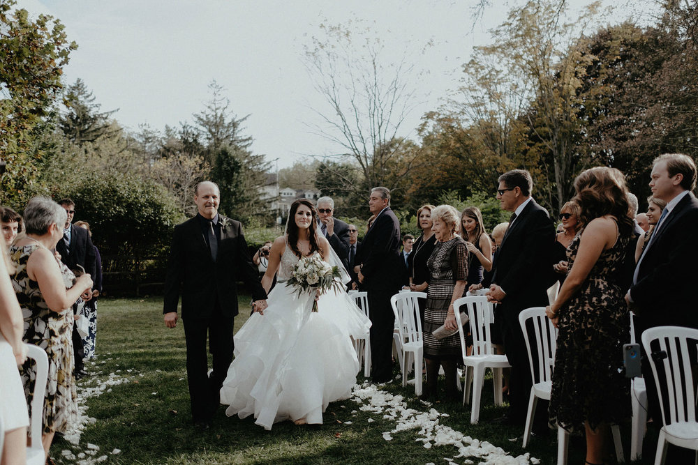 andover new jersey crossed keys estate adventure wedding photographer ceremony father walking bride down aisle