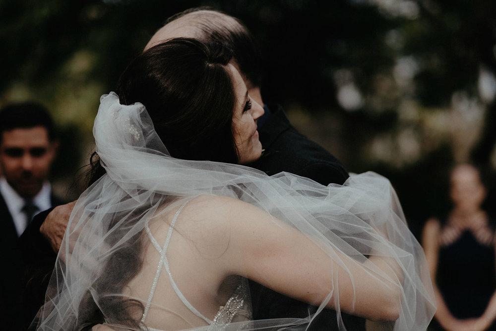 andover new jersey crossed keys estate adventure wedding photographer ceremony bride hugging father