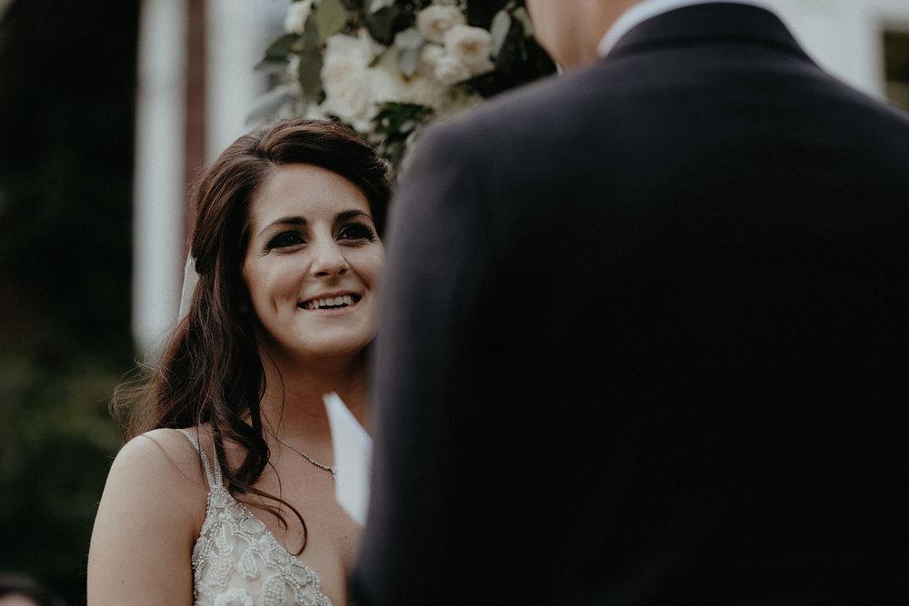 andover new jersey crossed keys estate adventure wedding photographer ceremony bride laughing