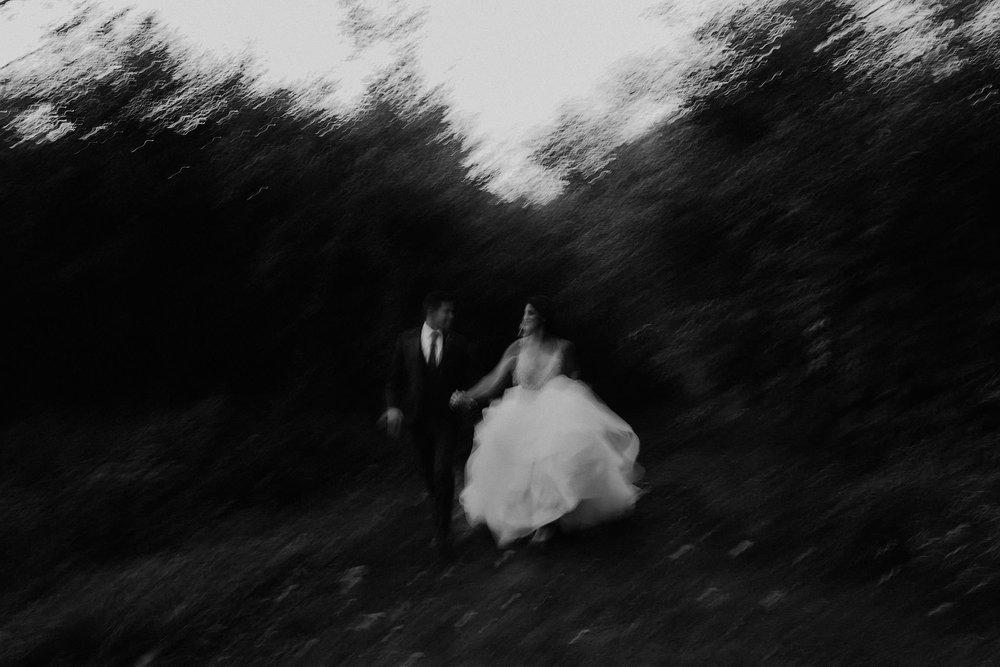 andover new jersey crossed keys estate adventure wedding photographer bride groom portrait running blurry