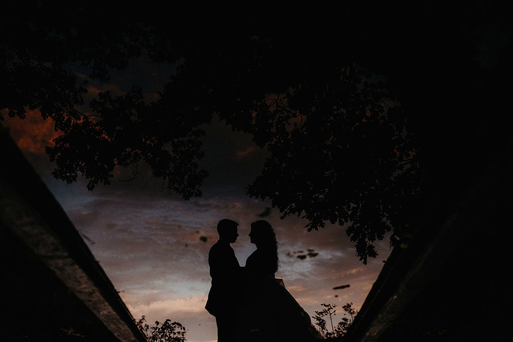 andover new jersey crossed keys estate adventure wedding photographer bride groom portrait sunset reflection