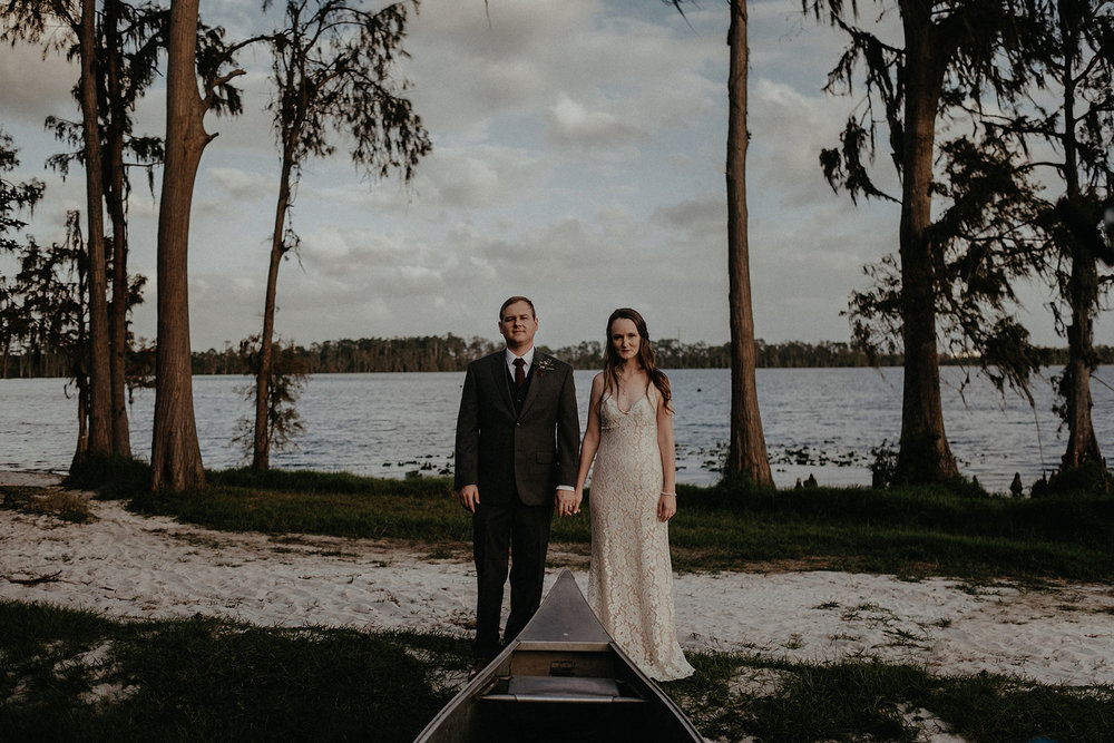 intimate wedding adventure elopement photographer orlando florida sunset portrait photo