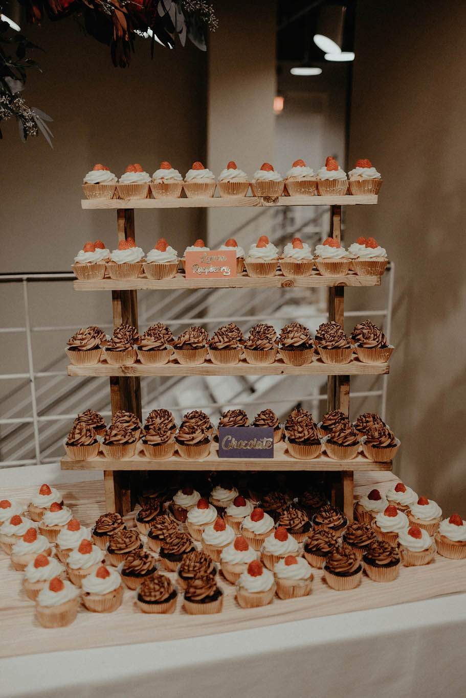 cincinnati warehouse wedding photographer reception cupcakes dessert