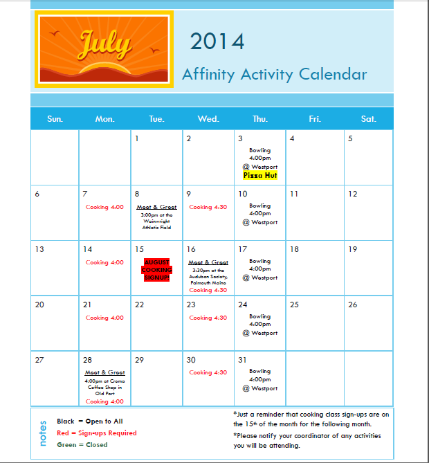 Click on calendar to enlarge.