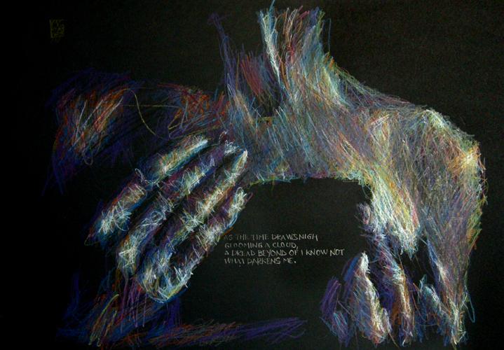 Massimo Corona   XX  (2011) pastello e grafite su carta  62 x 42 cm