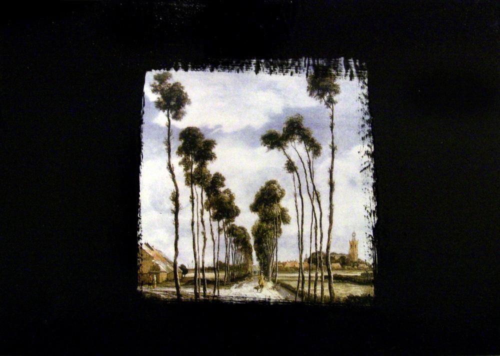 Loris Bellan  Albero  (particolare) (2011) stampa digitale e acrilico su legno