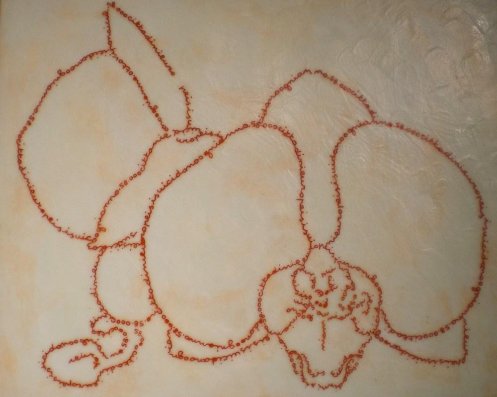 Luciano Pivotto   Fiore – S  (aprile, 2010) Tarsia, tempera, e cera su tavola intelata 44 x 54 cm