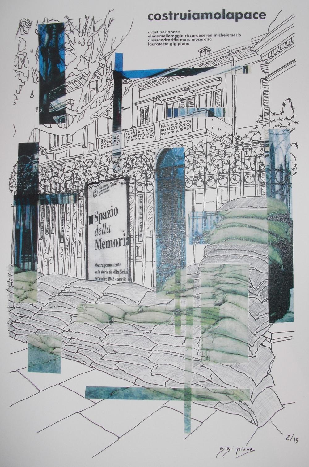 Gigi Piana costruiamolapace  (2012) stampa digitale 50 x 40 cm edizione di 20