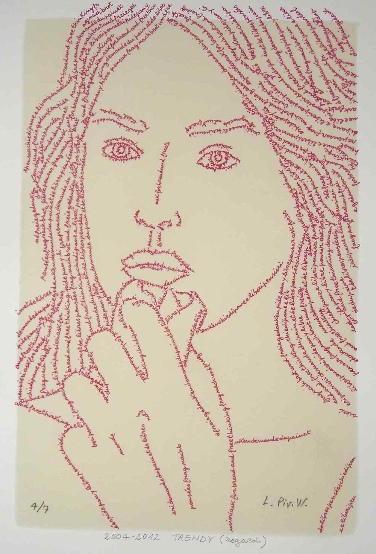 Luciano Pivotto  Trendy, regard  (2012) stampa digitale e cera 40 x 50 cm Edizione di 7