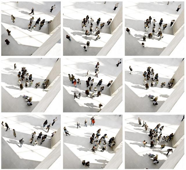 Mario Rossi  A day at museum  Fotografia digitale con stampa su alluminio e plexiglass 100 x 100 cm