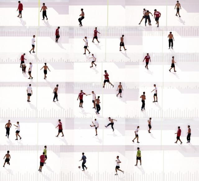 Mario Rossi  Players  Fotografia digitale con stampa su alluminio e plexiglass 100 x 100 cm