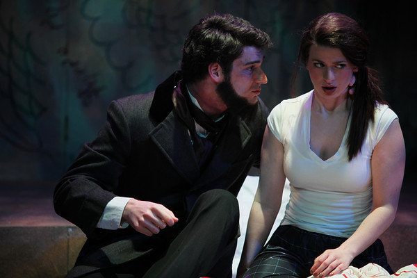 Matt Krieg as Edward Rulloff and Erin Elaine Ward as Jessica Photo Credit: Mikki Schaffner