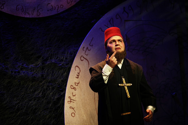 Anthony Newton as the Priest Photo Credit: Mikki Schaffner
