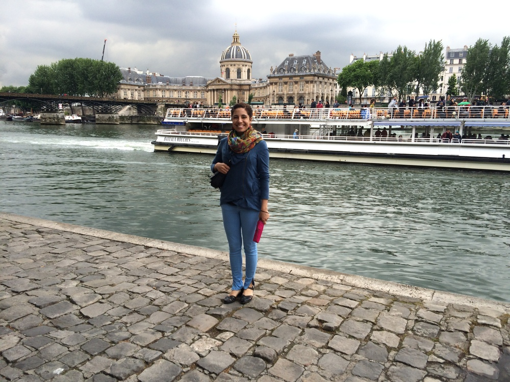 Having an Audrey Hepburn moment along the River Seine!
