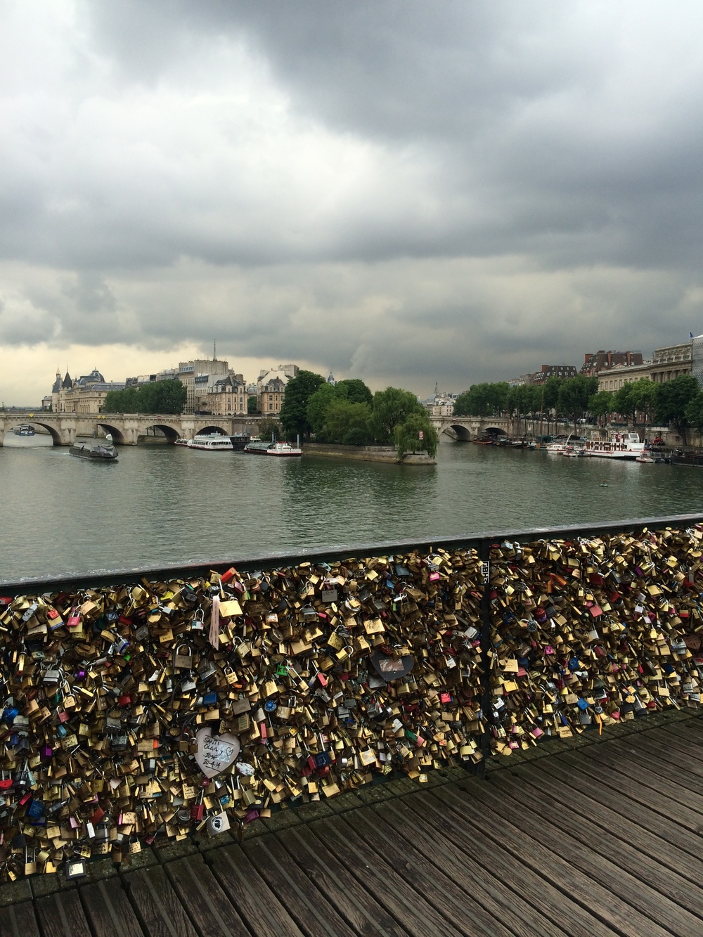 Love Lock Bridge on the River Seine.