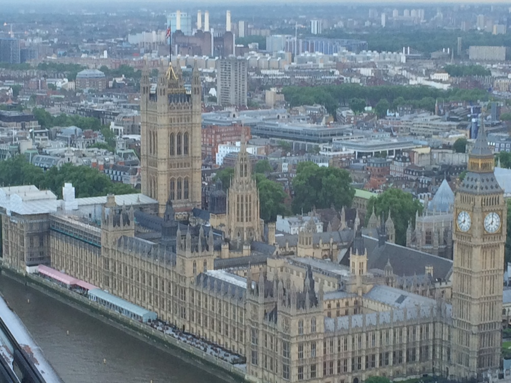 House of Parliament as viewed from the London Eye.