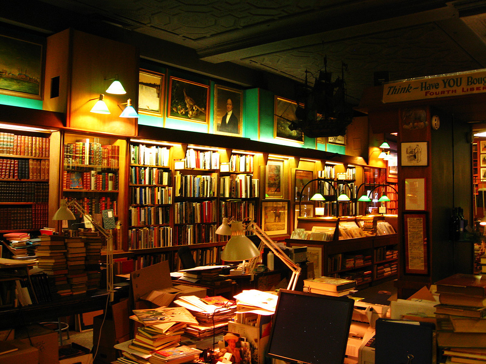 Interior shot of the Argosy Bookstore's first floor.