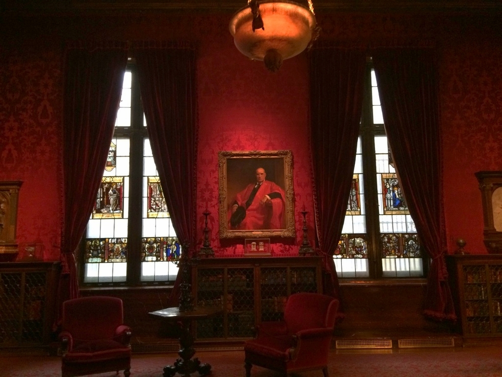 Reading nook in the Morgan Library.