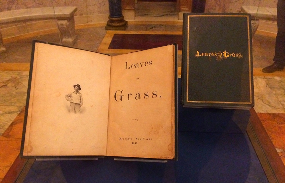 First edition of Walt Whitman's  Leaves of Grass  (1855).